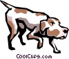 Vector Clip Art image  of a Hunting dog