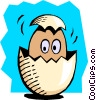 Baby breaking out of an egg Vector Clipart picture