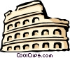 Roman Coliseum Vector Clip Art graphic