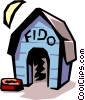 Vector Clipart image  of a Doghouse