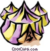 Vector Clip Art graphic  of a Tents