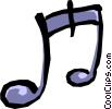 Musical notes Vector Clip Art graphic