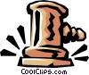 Judge's gavels Vector Clipart illustration