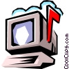 Vector Clipart graphic  of a Computer E-mail