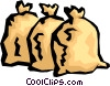 Vector Clip Art image  of a Moneybags