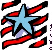 Stars and stripes Vector Clipart illustration