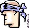 Vector Clipart picture  of a Blindfolds