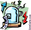 Vector Clip Art image  of a Stock market ticker