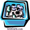 Vector Clip Art graphic  of a Recycle container