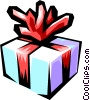 Vector Clipart illustration  of a Gift