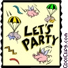 Vector Clipart image  of a Let's Party