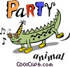 Party animals Vector Clipart picture