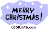 Vector Clip Art image  of a Merry Christmas!