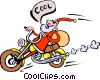 Vector Clipart picture  of a Cool Santa