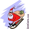 Santa with a bag of loot Vector Clipart graphic