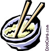 Bowl of rice Vector Clipart image