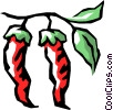 Vector Clipart illustration  of a Red peppers