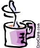 Vector Clip Art graphic  of a Coffee