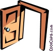 Vector Clipart picture  of a Doorway