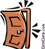 Slamming door Vector Clipart graphic