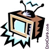 TV Vector Clipart illustration