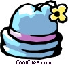 Vector Clip Art image  of a Hat with flowers