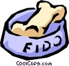 Vector Clip Art graphic  of a Dog's bone