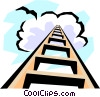 Vector Clipart graphic  of a Stairway to heaven