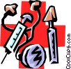 Vector Clip Art graphic  of a Medical instruments