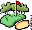 Golf green Vector Clip Art picture