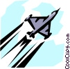 Jet airplane Vector Clip Art graphic