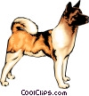 Vector Clipart graphic  of an Akita dog