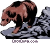 Vector Clipart graphic  of a Grizzly bear