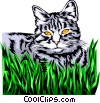 Domestic cat Vector Clipart image