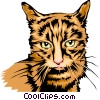 cool looking cat Vector Clipart graphic