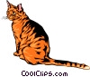 Vector Clipart illustration  of a cool looking cat