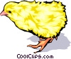 Vector Clipart graphic  of a Baby chicken