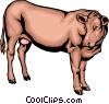 Vector Clipart image  of a Dairy cow