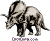 Triceratops Vector Clipart picture