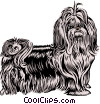 Vector Clipart graphic  of a Shih Tzu dog