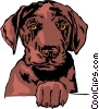 Vector Clipart graphic  of a Dog