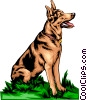 Vector Clipart graphic  of a German Shepherd