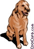 Vector Clip Art image  of a Doggy dog