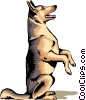 Vector Clipart picture  of a German Shepherd