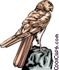 Vector Clip Art image  of a Falcon