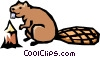 Vector Clipart illustration  of a Beaver