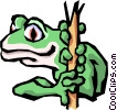 Tree frog Vector Clipart graphic