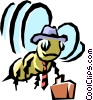 Worker bee Vector Clipart image