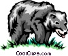 Vector Clip Art graphic  of a Black bear