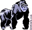 Vector Clipart graphic  of a Gorillas